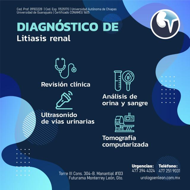 Diagnóstico de la Litiasis renal