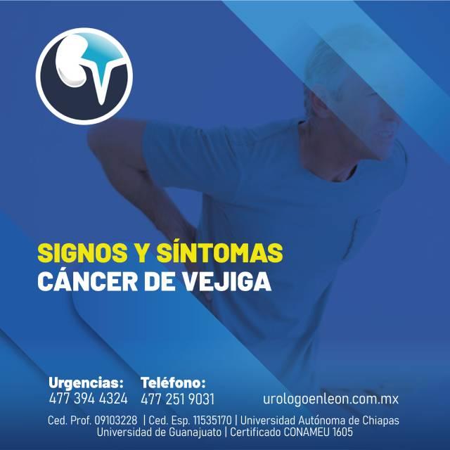Signos y síntomas de cáncer de vejiga
